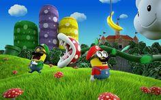 Mario and Luigi Minions having a blast in the Mushroom Kingdom. #Minions #MarioBros #Nintendo