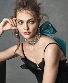 Oscar de la Renta Pavé Crystal Choker w/Silk Bow, Blue