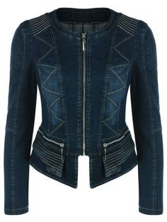 GET $50 NOW | Join RoseGal: Get YOUR $50 NOW!http://m.rosegal.com/jackets/ziazag-slimming-demin-jacket-807421.html?seid=7839514rg807421