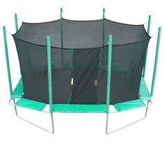 Provide endless hours of fun for the whole family when you pick up this enclosed Magic Circle trampoline constructed of durable galvanized steel. The safety cage is actually sewn to the mat to ensure a seamless environment for hours of protected fun.