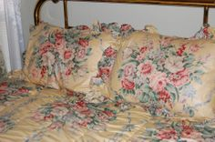 Ralph Lauren Bedding | Details about Vintage Ralph Lauren Evelyn Comforter Shams Bedskirt