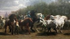 The Horse Fair by Rose Bonheur, Metropolitan Museum of Art, as seen on The Jurga Report in the article The Way We Were: New York's Extravaganza 1914 Horse Show Aided World War I Victims