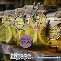 Lilipops - Gift Tags - Printable Tags - Printable - Kawaii - Instant Download - Label - Vintage - Watercolor Tags - Lemon - Orange - Kawaii - HeyLilipops - Etsy - Packaging