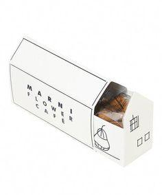 form - very cute and simplistic packaging. feels like a house Baking Packaging, Bread Packaging, Dessert Packaging, Food Packaging Design, Coffee Packaging, Packaging Design Inspiration, Gift Packaging, Flower Packaging, Custom Packaging
