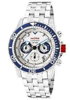 Price:$199.00 #watches Red Line 50034-22-BL-BZ, An aura of brilliance. This Red Line timepiece glows with its irradiant charm. Its smooth design will intensify anyone's personality.