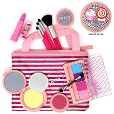 Joyin Toy Pretend Play Cosmetics and Makeup Set with No Pigment in Tote Bag Teenage Makeup, Kids Makeup, Makeup Set, Blush Makeup, Princess Makeup, Free Cosmetic Samples, Candy Jewelry, Jewelry Mirror, Cute Candy