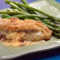 Ham-&-Cheese-Stuffed Chicken Breasts Recipe - http://recipes.millionhearts.hhs.gov/recipes/ham-cheese-stuffed-chicken-breasts
