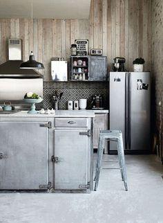 Cuisine inox esprit industriel Industrial inspiration kitchen