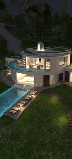 By MCM Designstudio outdoor pool modern architecture - modern architecture design ideas Beautiful Architecture, Interior Architecture, Architecture Colleges, Water Architecture, Installation Architecture, Luxury Interior, Future House, Design Exterior, Modern Exterior