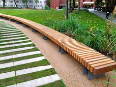 Clifton Curved Seat: Woodscape Street Furniture. Timber #outdoor #furniture…