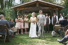 A Romantic Garden Wedding #garden #vintage #wedding #ceremony