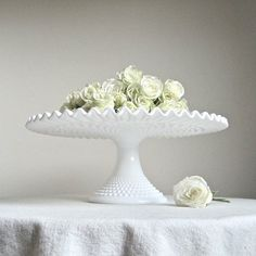 Hobnail cake pedestal