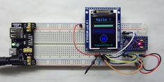 Im Gegensatzzum HY-1.8 handelt es sich hier um ein 1.8 Zoll Display mit dem Samsung S6D02A1 Treiber-Chip.Die Anschlussbelegung ist etwas unterschiedlich und es muss eine Arduino-Bibliothek ausgetauscht werden. Ansonsten ist die Verwendung durch die Adafruit-Grafik-Bibliothek nahezu gleich. Allerdings darf dieses Display an den Datenleitungen nur mit 3,3V betrieben werden, weswegen hier 2 Beispiele zum Beschalten …