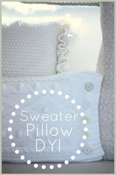 StoneGable: SWEATER PILLOW TUTORIAL. Find an old sweater at a thrift store.