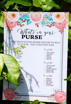 Free Floral Bridal Shower Printables! Gorgeous! Get 2 games and a banner on prettymyparty.com.