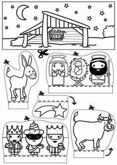Kerststal x knutselen Knutselen voor kinderen. De mooiste Knutselwerkjes voor op school en in het onderwijs. Preschool Christmas, Christmas Activities, Christmas Projects, Kids Christmas, Christmas Village Display, Nativity Crafts, 3d Drawings, Sunday School Crafts, Diy Crafts For Kids