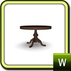 Dining tables on pinterest round pedestal dining table and sims