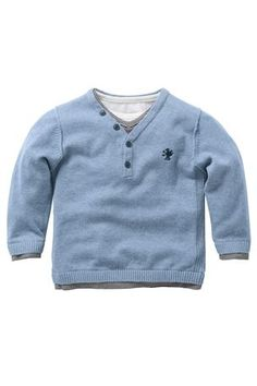 Buy Blue Layered Grandad Top online today at Next Direct United States of America