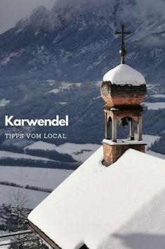 --> das solltest du im KARWENDELGEBIRGE sehen ❤️ Hall In Tirol, Reisen In Europa, Austria, Snow, Outdoor, Inspiration, Unique Hotels, Ski Resorts, Ski Trips