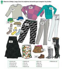 Adjetivos para describir ropa.