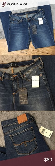 """Lucky Brand Jeans Lolita Skinny Brand new with tags SIZE: 8/29 Lolita Skinny •Curvy Fit •Mid Rise •Contoured Wait Rise: 9""""  Waist: 15.5"""" Inseam: 28"""" Cuff Circumference: 5.5"""" Lucky Brand Jeans Skinny"""