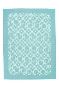 Vzorovaný bavlněný ubrus  CONSCIOUS. Ubrus z biobavlny s tištěným vzorem.  H m Home 69a81072dee