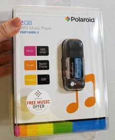 DEADSTOCK NOS POLAROID 2GB MP3 PLAYER SEALED NEW pmp100bk-2 #Polaroid