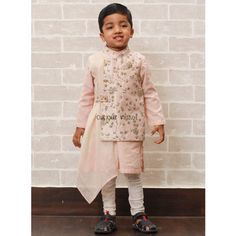Let your little boy experience extreme comfort with best selling traditional wear Embroidered Drape Nehru Jacket Kurta Set @ Curious Village. 🔰🔰 Contact us: 6280 818 719 , 6280 807 855 Kids Party Wear Dresses, Kids Dress Wear, Dress Up, Kids Indian Wear, Kids Ethnic Wear, Baby Boy Ethnic Wear, Baby Boy Dress, Baby Boy Outfits, Kids Outfits