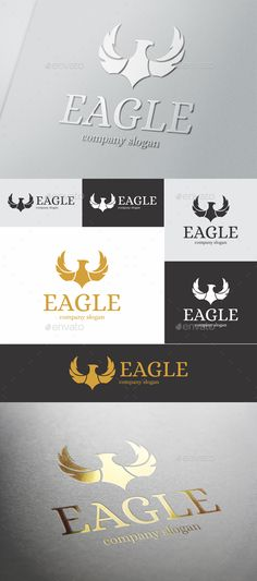 Eagle — EPS Template #brand #logo design • Download ➝ https://graphicriver.net/item/eagle/18145496?ref=pxcr