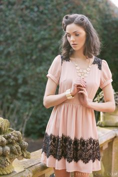 Lovely lace. This would be my first choice of dresses for my tea party