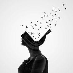 """Man vs Nature: Double Exposure Photography, The Delicate Photography of Berta Vicente Salas, 1900 × Double Exposure Photography, Fine Art Photography, Contrast Photography, Concept Photography, Fashion Photography, Photoshop, Portraits En Double Exposition, Artist Canvas, Canvas Art"