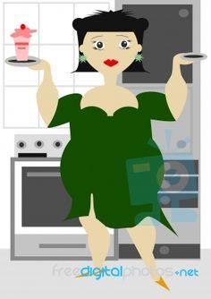 Fat Woman looks nice