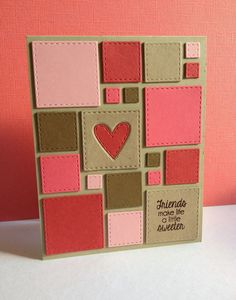 Stitched Squares by Lisa Adessa using Simon Says Stamp Exclusives.