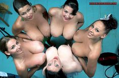 Group of busty pinup girls flashing big tits. Sexy groups of babes exposing huge naked natural breasts. Horny girls flash humongous boobs and large nipples. Voluptuous topless women with gigantic naked titties exposed. Hot female exhibitionists showing off giant nude boobies. Free voyeur porn pics.