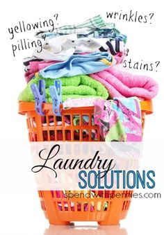 Solutions to Common Laundry Problems! Plus a stain removal guide!