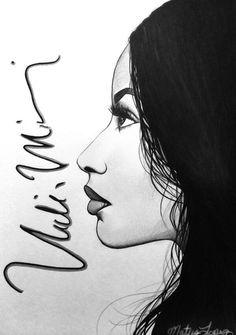 nicki minaj drawing black and white - Google Search