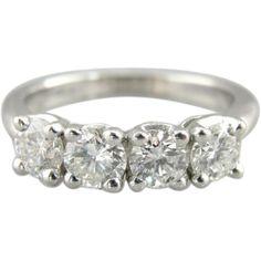 Fine Diamond and Vintage White Gold Wedding Ring