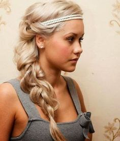 multi-strand braid woven and undone with a wrapped and pinned circlet