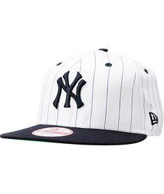 6a0f5f8f6609c MLB New York Yankees White BITD Pin Stripe New Era Snapback Hat