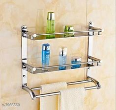Bath Shelves KT Stainless Steel Double Layer Shelf with Towel Road,Multipurpose Bath Shelf Organizer,Kitchen Shelf/Towel self/Bathroom Shelf and Rack/Bathroom Accessories (17 * 18 Inch) Material: Stainless Steel Pack: Pack of 1 Country of Origin: India Sizes Available: Free Size   Catalog Rating: ★4.4 (591)  Catalog Name: Fancy Bath Shelves CatalogID_1312556 C132-SC1589 Code: 5121-7966559-9902