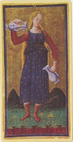 Temperance -- Pierpont Morgan Visconti Sforza Tarocchi Deck, Italy, Milan, ca. 1450