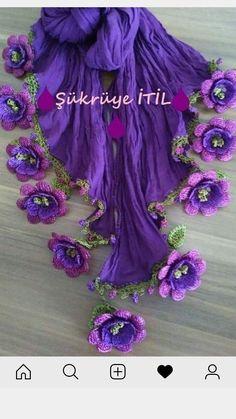 Random Tutorial and Ideas Art Au Crochet, Crochet Motif, Crochet Designs, Crochet Flowers, Fabric Flowers, Crochet Stitches, Knit Crochet, Crochet Patterns, Hand Embroidery Videos