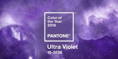 Pantone's Colour of the Year for 2018... Ultra Violet!