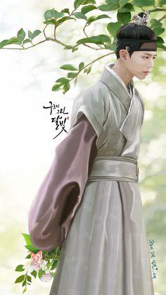 박보검 , 구르미 그린 달빛 이영 팬아트 [ 출처 : 디시 구르미갤러리 ]