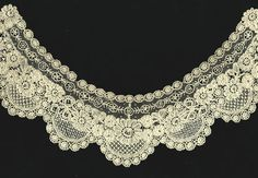 Brussels Duchesse collar...bobbin lace with needlepoint inserts
