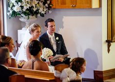 Bride and groom seated in a chapel wedding #wedding #photography #melbourne #weddingphotography #ballarareceptions