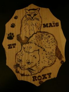My best friend's cats turned into stencils to be wood burned. Was a gift for her birthday :)