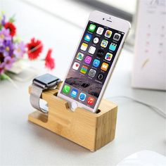Wood and Bamboo Apple Watch Charger Holder & iPhone Holder Made of beech wood or bamboo. Two in one holder Apple Watch Charger & iPhone. Phone holder fit for iPhone iPhone ,iPhone 7 plus Each in a box Charger Holder, Iphone Holder, Cell Phone Holder, Smartphone Holder, Iphone 7 Plus, Iphone 6, Wood Phone Stand, Iphone Docking Station, Apple Watch Iphone