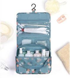 New Portable Waterproof Multifunctional Travel Cosmetic Bag High Capacity Hanging Bag Zipper Toiletries Organizer Bag makeup Bag