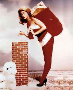 Elizabeth Montgomery does a Christmas Pin Up